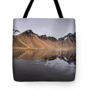 Vestrahorn Mountain In Stokksnes Iceland Tote Bag