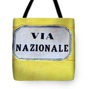 Via Nazionale Tote Bag