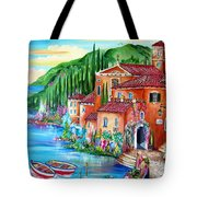 Via Positano By The Lake Tote Bag