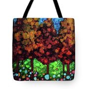 Vibrant Forest Tote Bag