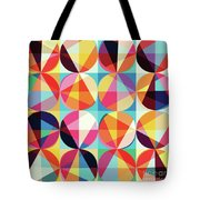 Vibrant Geometric Abstract Triangles Circles Squares Tote Bag
