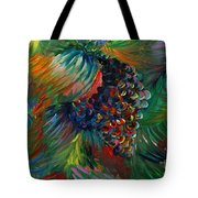 Vibrant Grapes Tote Bag by Nadine Rippelmeyer