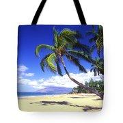 Vibrant Green Palms Tote Bag