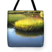 Vibrant Marsh Grasses Tote Bag
