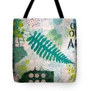 Vibrant Meadow Fern Tote Bag