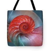 Vibrant Nautilus Pair - Horizontal Tote Bag