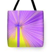 Vibrant Palm Frond Square Tote Bag