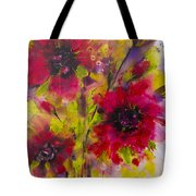 Vibrant Pink Poppies Tote Bag