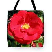 Vibrant Red Rose Tote Bag