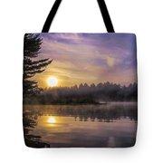 Vibrant Sunrise On The Androscoggin River Tote Bag