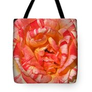 Vibrant Two Toned Rose Tote Bag