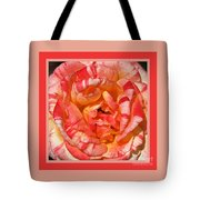 Vibrant Two Toned Rose With Design Tote Bag