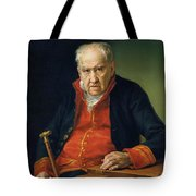 Vicente Portaia Lopez  Felix Maximo Lopez First Organist Of The Royal Chapel 1820 Tote Bag