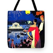Vichy, Firework At Celebration Night Tote Bag