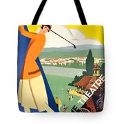 Vichy, Sport Tourism, Woman Play Golf Tote Bag