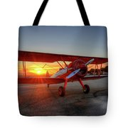 Vicky Benzings 1942 Boring Stearman At Livermore Tote Bag