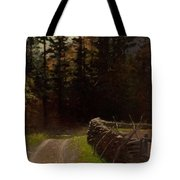 Victor Coleman Anderson  1882  1937 Road By The Woods Tote Bag