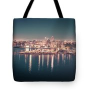 Victoria British Columbia City Lights View From Cruise Ship Tote Bag