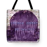 Victoria Eternal Sleep Tote Bag