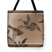 Victorian Birds In Sepia Tote Bag