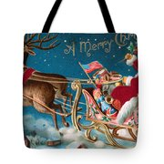 Victorian Christmas Card Tote Bag