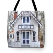Victorian Cottage Watercolor Tote Bag