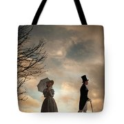 Victorian Couple Parting  Tote Bag