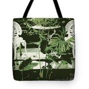 Victorian Garden Poster Tote Bag