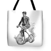 Victorian Gentleman Cycling Tote Bag