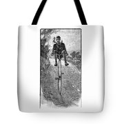 Victorian Gentleman On A Penny-farthing Tote Bag