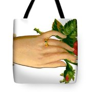 Victorian Hand And Rose Tote Bag