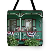 Victorian House And Garden. Tote Bag