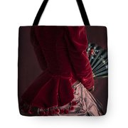 Victorian Lady In A Red Bussle Ensemble Tote Bag