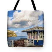Victorian Pier In Llandudno Tote Bag