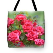 Victorian Rose Garden - Digital Painting Tote Bag