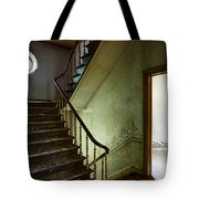 Victorian Staircase At Deserted Castle - Urban Decay Tote Bag