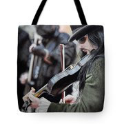 Victorian Street Musician Tote Bag