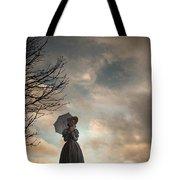 Victorian Woman Alone In A Landscape In Silhouette Tote Bag