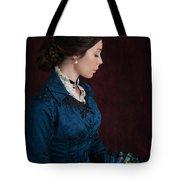 Victorian Woman Portrait In Profile  Tote Bag