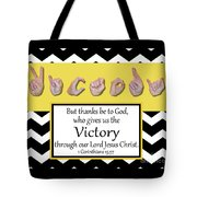 Victory - Bw Graphic Tote Bag