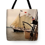 Victory Chimes Along Side Tote Bag