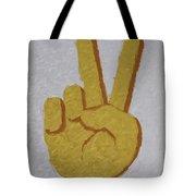 #victory Hand Emoji Tote Bag