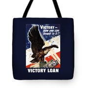 Victory Loan Bald Eagle Tote Bag