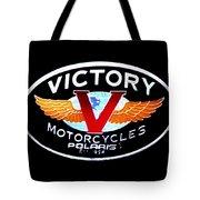 Victory Motorcycles Emblem Tote Bag