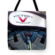 Victory Red Sq Tote Bag