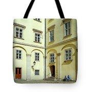 Vienna Courtyard Chat Tote Bag