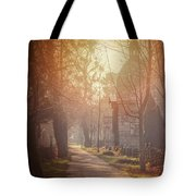Vienna Zentralfriedhof In Winter  Tote Bag
