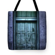Vieux Carre' Doorway At Night Tote Bag