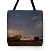 View Across Dungeness Peninsula At Night. Tote Bag