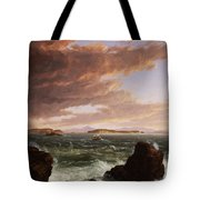 View Across Frenchman's Bay From Mt. Desert Island After A Squall Tote Bag by Thomas Cole
